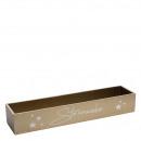 Wooden box star magic, L50cm, B11cm, H8cm, gold